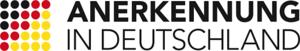 """Logo mit den Worten """"Anerkennung in Deutschland"""""""